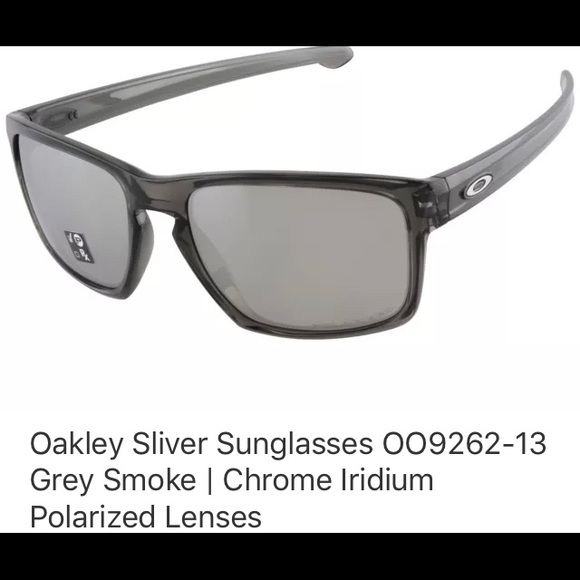 9c12c544291 Oakley Sliver Sunglasses Grey Polarized Lenses. M 5bb4e72645c8b3fcee86f043